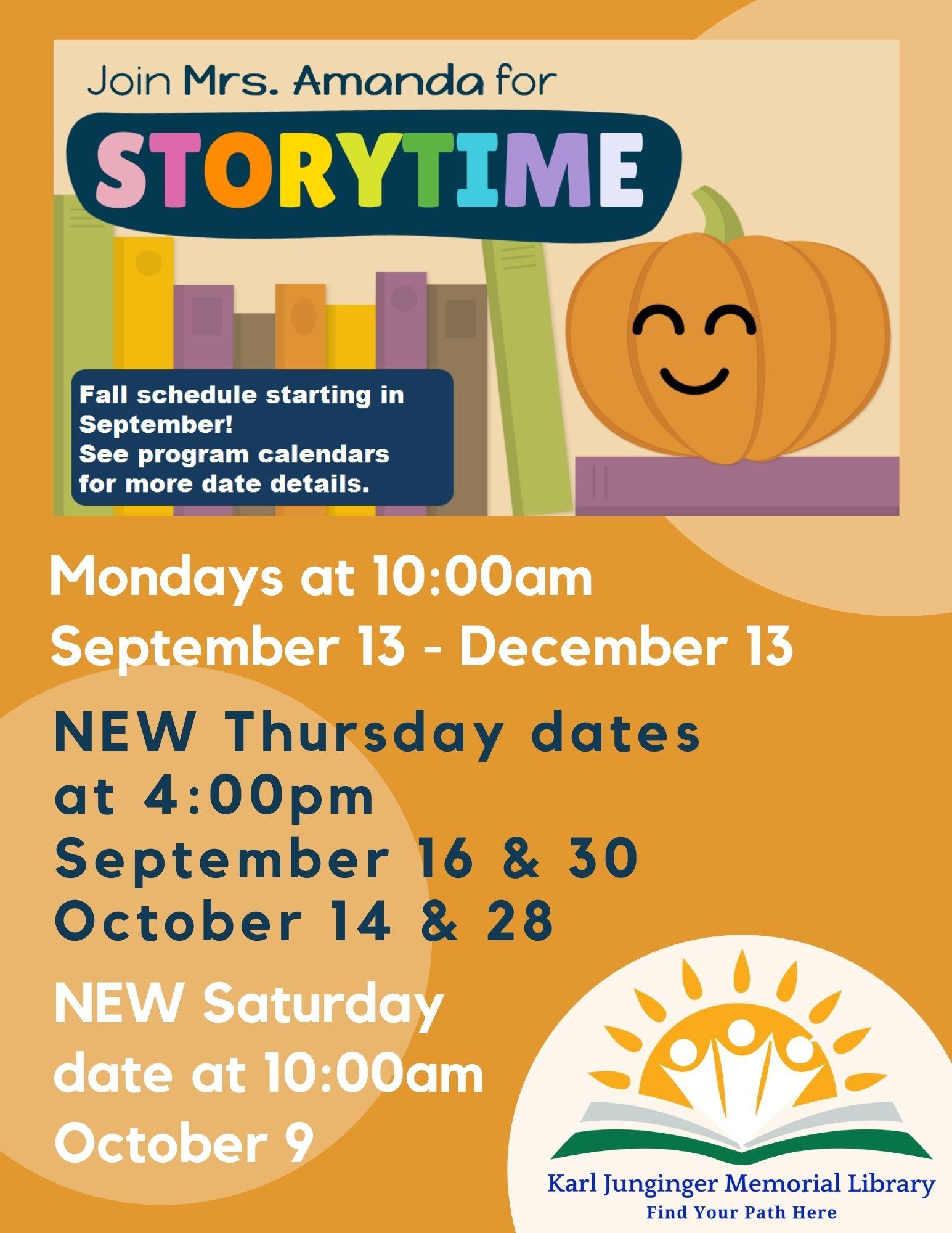 Story Time Fall 2021 Pumpkin Update
