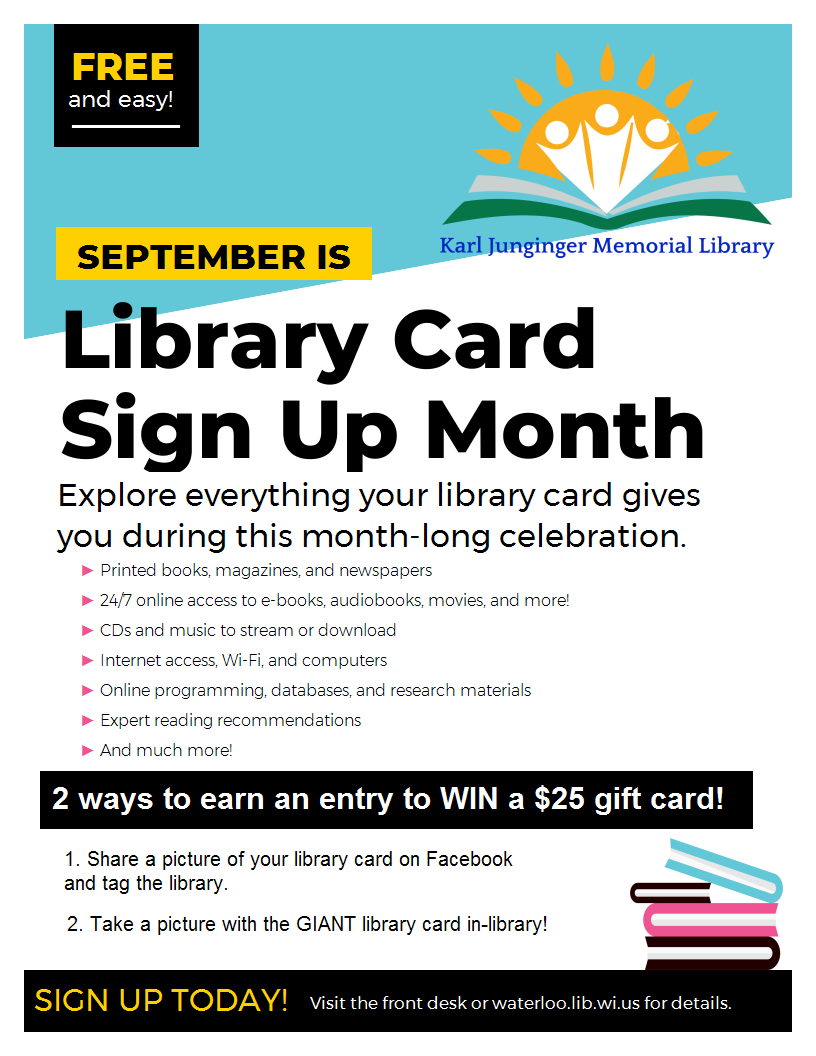 Library Card Sign Up Month 2021